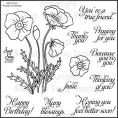 Sweet 'n Sassy Stamps - Poppies and Greetings