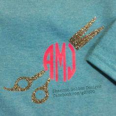 Glitter Monogram Hairdresser Shirt