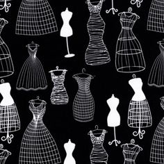 Michael Miller House Designer - Dressforms - Dressforms in Black  for embellished straw handbags.  Possible NMFBC CDC auction item...