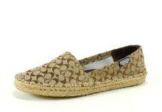 Coach Women's June Espadrille Flat (Khaki)I want!!!!!