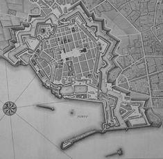 Toscana Livorno in una pianta dell'Ottocento
