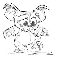Gremlins by Paul Cohen Cartoon Sketches, Cartoon Art, Drawing Sketches, Cartoon Faces, Sketching, Animal Drawings, Cute Drawings, Character Drawing, Character Design