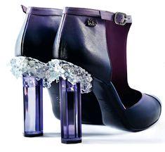 Chanel crystal heels