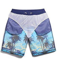 4b4743e87e SHENGRUI Mens Swim Trunks Quick Dry Bathing Suits Printed Swim Shorts Men's  Shorts, Swim Shorts