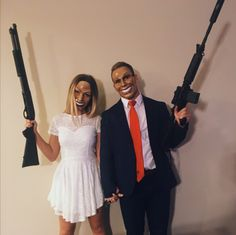 Hallowen Costume Couples the purge election year couple costume Scary Halloween Costumes, Cute Halloween Costumes, Halloween 2018, Halloween Inspo, Halloween Diy, Halloween Images, Halloween Parejas, Halloween Kleidung, Maquillage Halloween