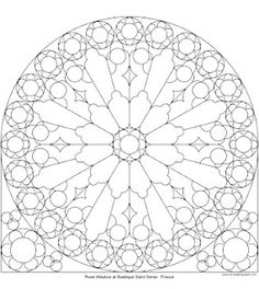 Rose window coloring page. NOW I WANT TO COLOR