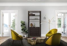 Living Room Ideas | Malay Armchair from Brabbu and Eden Center Table from Boca do Lobo See more: https://www.brabbu.com/en/all-products.php