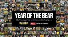 """Year of the Bear"" coffee table book -- 144 pages, full-color. Perfect keepsake to remember the 2011-12 #Baylor athletic year. #sicem"