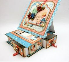 Main image for 'How to Create a Box Easel Card With 4 Drawers Using G45'