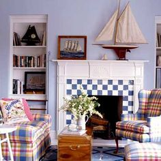 Play on Pattern - Fire it Up: 15 Fireplace Ideas - Coastal Living