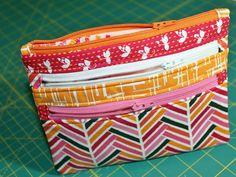 DIY: triple-zip pouch