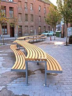 modern public picnic seating - Google Search