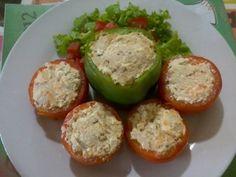 Receita de Tomates recheados com ricota - Tudo Gostoso