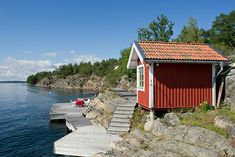 the sauna of the little red cottage in Sweden