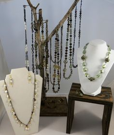 "A sampling display from Karen Grace Designs The ""Beginnings"" line"