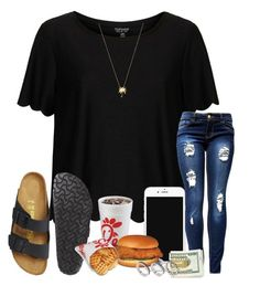 """""""im a sucker 4 food ♡"""" by arieannahicks ❤ liked on Polyvore featuring Topshop, Birkenstock, Joolz by Martha Calvo and ASOS"""