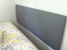 Lightweight easy to make headboard using foam board! This way you can change it often without spending money on a new bed