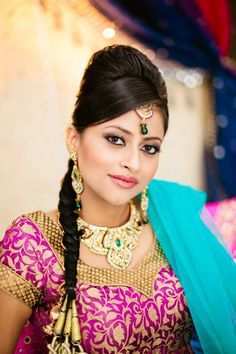 Indian Bridal Makeup and Hair! Check out our facebook page www.facebook.com/GokaLove.MakeupAndHair and check us out on Instagram @gokalovemakeupandhair