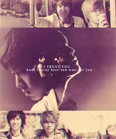 "Yunjae- ""I trust you, and I'll stay here and wait for you."""