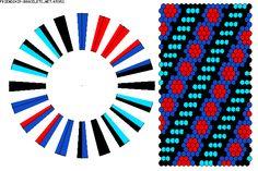 K5952 - friendship-bracelets.net 40 strings / 4 colours