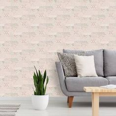 Bungalow Rose Mosser Ink Scribbles L x W Paintable Peel and Stick Wallpaper Panel Color: Beige Trellis Wallpaper, Wallpaper Panels, Wallpaper Roll, Peel And Stick Wallpaper, Embossed Wallpaper, Geometric Wallpaper, Brick Wall Kitchen, White Brick Wallpaper, Brick Wall Paneling