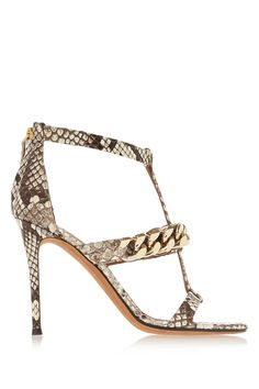 Givenchy - Python sandals with gold chain 5374c1a2acd