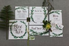 Stationery Invites Invitations Botanical Macrame Glass House Wedding Ideas Jo Bradbury Photography #wedding #Stationery #Invites #Invitations #Botanical #greenery