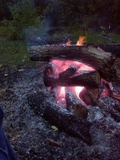 The perfect end to a long day. Campfire and a selection of fine microbrews.