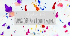 It is the last day to get 10% Off your art equipment! #Studio110NZ