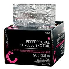 All professionals need their haircoloring foils and we have the best price in town. 500 POP up SHEETS for only $9.95