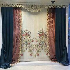 Elegant Curtains, Shabby Chic Curtains, Beautiful Curtains, Curtains With Blinds, Sheer Curtains, Valance, Curtains 2018, Curtain Styles, Curtain Designs
