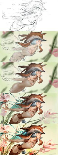 ArtStation - Fox spirit, Chengwei Pan