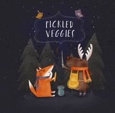Pickled veggies on Behance