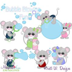 Bubble Blowing Fun SVG Cutting Files Includes Clipart