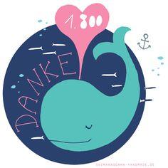 Thank you whale | by Seemannsgarn