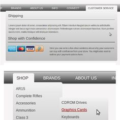Pure CSS Mega Menu - Zen Cart ecommerce web design