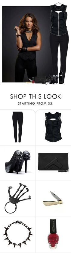 """""""Mazikeen"""" by saradrobna ❤ liked on Polyvore featuring Blackbird, Lucifer, maze and mazikeen"""