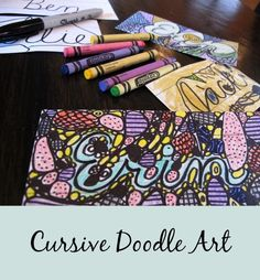 Cursive Doodle Art - A creative cursive activity Home Literacy Blueprint