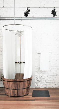 = tub shower and stage lighting
