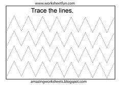 Pre K Tracing Worksheets Line Tracing Worksheets, Printable Preschool Worksheets, Shapes Worksheets, Letter Worksheets, Printable Numbers, Writing Worksheets, Worksheets For Kids, Writing Activities, Free Preschool