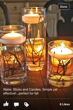 Water, Sticks, and Candles -  stunning display