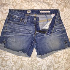 AG denim shorts Very minimal wear... Absolutely adorable distressed look :) AG Adriano Goldschmied Shorts Jean Shorts