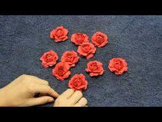 Как сделать розу из бумаги с помощью ложки - YouTube