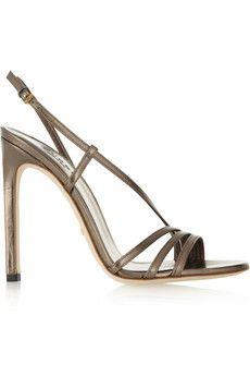 Gucci Othilia metallic leather sandals | NET-A-PORTER