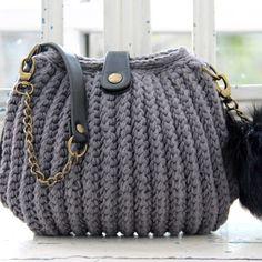 Rib Stitch Tas vanaf Go Handmade Crochet Stars, Knit Or Crochet, Crochet Hooks, Free Crochet, Crochet Handbags, Crochet Purses, Knitting Patterns, Crochet Patterns, Bag Patterns
