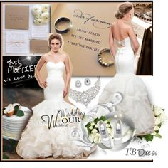 """""""Wedding Dresses with Tbdress.com"""" by hamaly on Polyvore"""