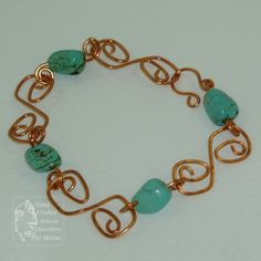 Turquoise and Copper Links Bracelet | Jewellery By Shalini £15.00
