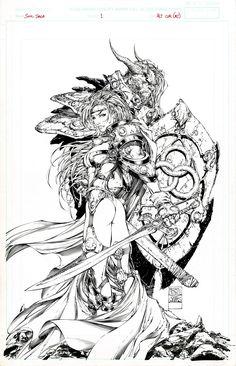 Michael Turner - Soul Saga Alternate Cover, in Frank Mastromauro's Michael Turner Showcase Comic Art Gallery Room Comic Book Artists, Comic Artist, Comic Books Art, Turner Artworks, Saga Comic, Art Sketches, Art Drawings, Soul Saga, Michael Turner