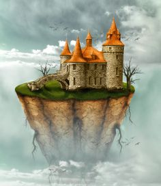 Floating Island  http://www.psd-dude.com/tutorials/photoshop.aspx?t=floating-island