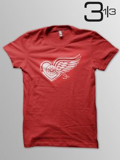 07d80026b Winged Heart t-shirt Detroit Red Wings